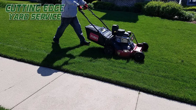 cutting edge mowing team